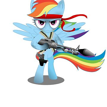 My Little Pony Blue Rainbow Pony de JoeJoestar