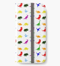 Colourful Dinosaurs Pattern iPhone Wallet/Case/Skin