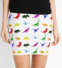 Colourful Dinosaurs Pattern Mini Skirt