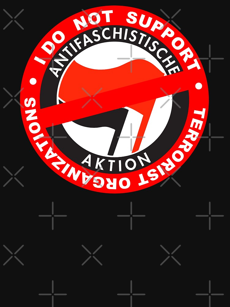I Do Not Support Terrorist Organizations Antifa by undaememe
