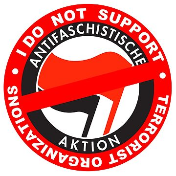 I Do Not Support Terrorist Organizations Antifa by undaememe