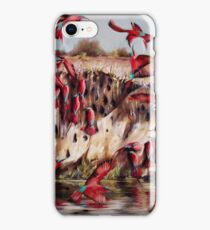 Carmine Bee Eaters iPhone Case/Skin