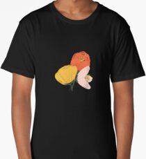 Gouache Painted Flowers Long T-Shirt