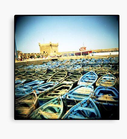 The Classic Essaouira Boat Shot Canvas Print