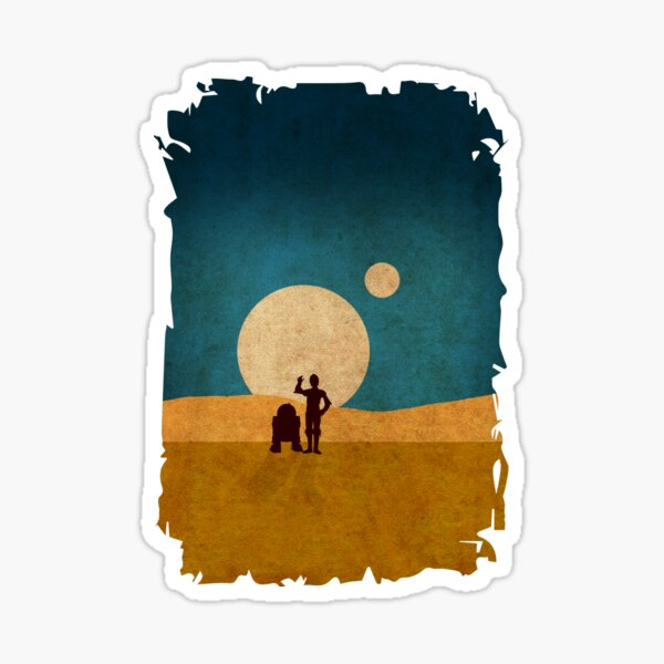 Droids In The Dunes Sticker