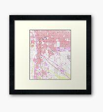 Vintage Map of Tucson Arizona (1957)  Framed Print