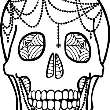 Henna Spider-Skull  by LeChardonneret