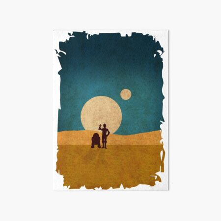 Droids In The Dunes Art Board Print