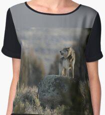 Wolf Howling #3 Women's Chiffon Top