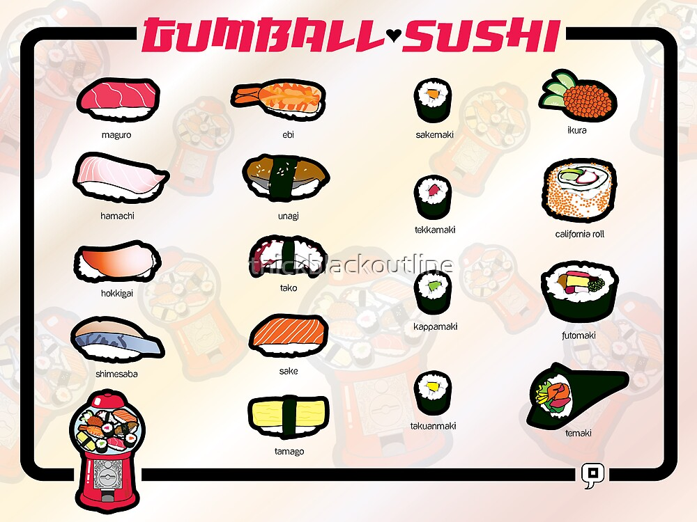 Gumball Sushi     English by thickblackoutline