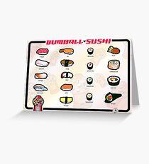 Gumball Sushi  |  English Greeting Card