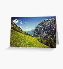 Lauterbrunnen Valley in Bloom Greeting Card