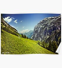 Lauterbrunnen Valley in Bloom Poster