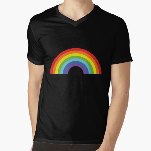 Rainbow V-Neck T-Shirt