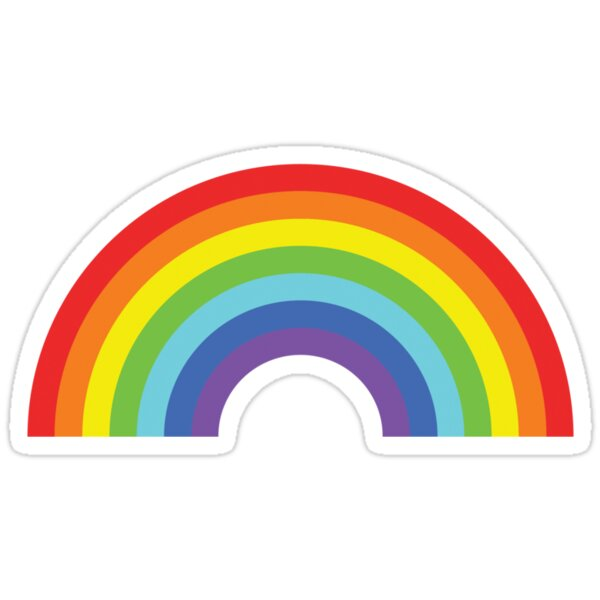 Quot Rainbow Quot Stickers By Icaretees Redbubble
