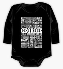 Geordie Sayings Print One Piece - Long Sleeve