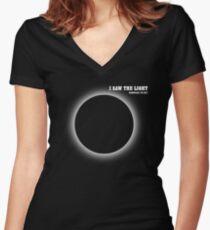2017 Solar Eclipse, Nashville, TN,  I Saw The Light Women's Fitted V-Neck T-Shirt
