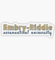 Embry-Riddle Aeronautical University Gold Sticker