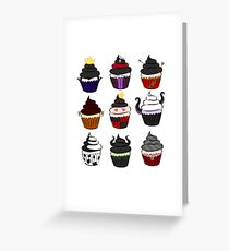 Villains cupcakes Greeting Card