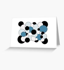 Bubbles - blue, gray, black, white  Greeting Card