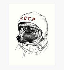 Laika, space traveler Art Print