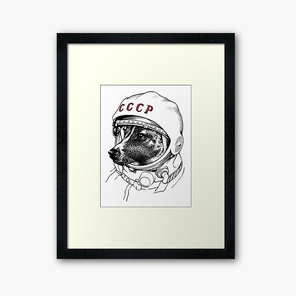 Laika, space traveler Framed Art Print