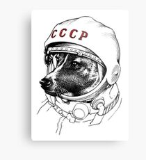 Laika, space traveler Metal Print