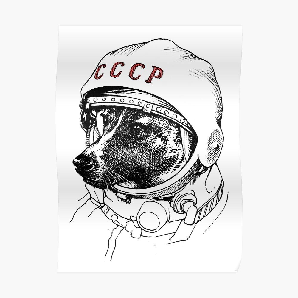 Laika, space traveler Poster