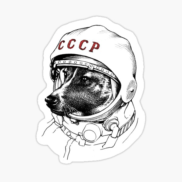 Laika, space traveler Pegatina
