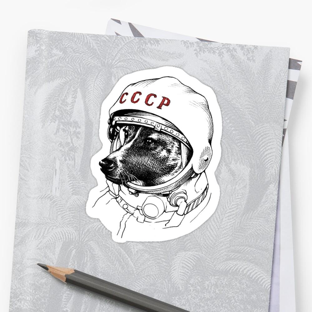 Laika, space traveler Stickers