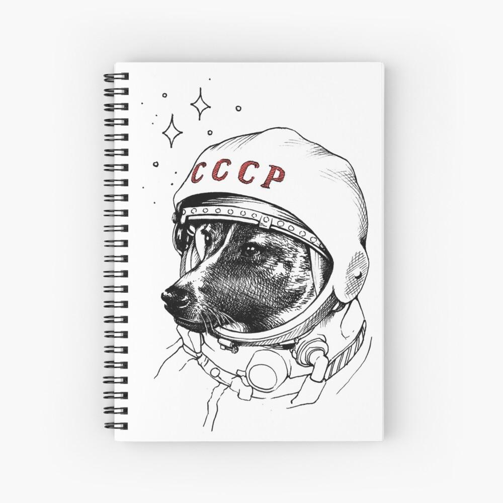 Laika, space traveler Spiral Notebook