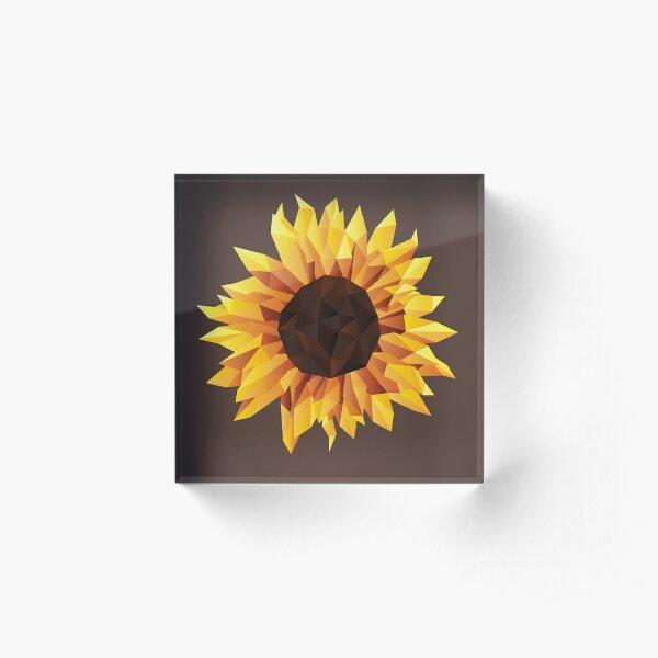 Polygonal Sunflower Acrylic Block