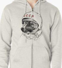 Laika, space traveler Zipped Hoodie