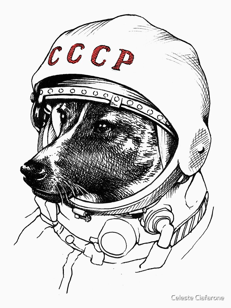 Laika, space traveler by celestecia