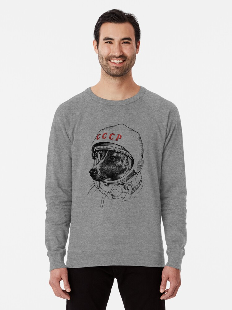 Alternate view of Laika, space traveler Lightweight Sweatshirt