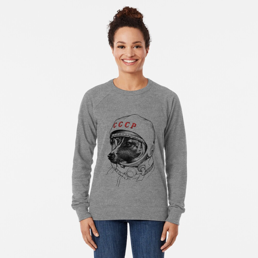 Laika, space traveler Lightweight Sweatshirt