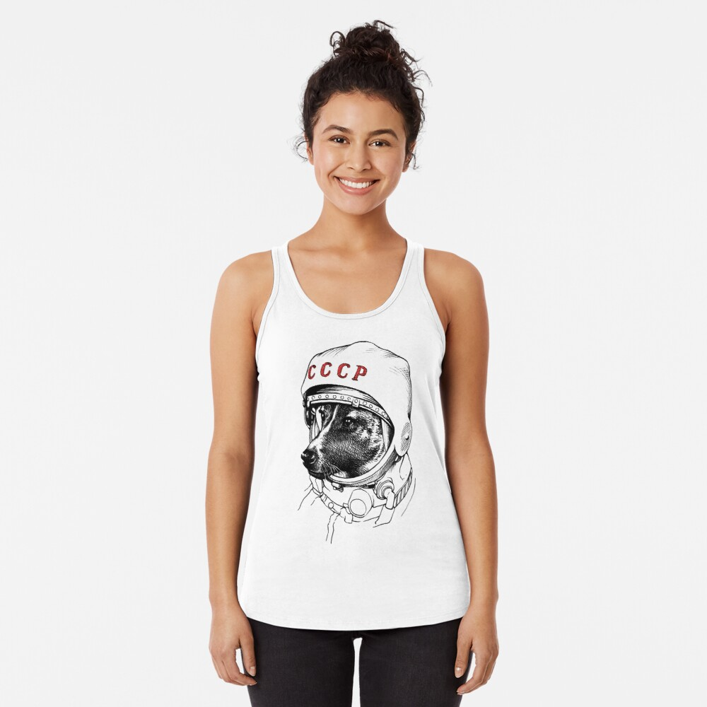 Laika, space traveler Racerback Tank Top