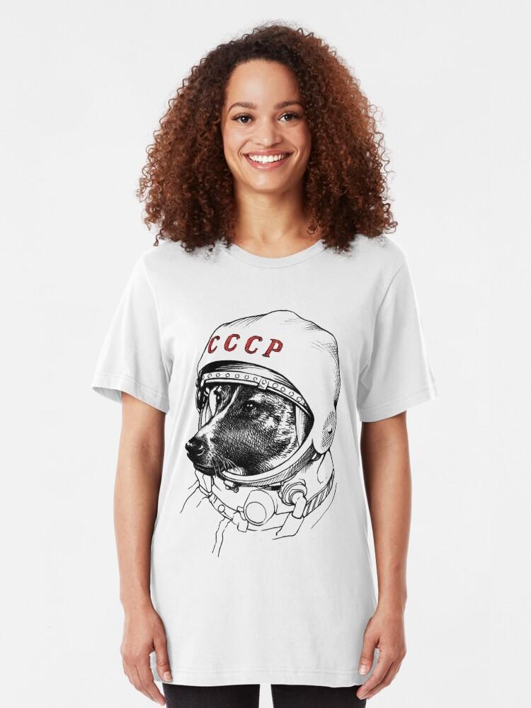 Alternate view of Laika, space traveler Slim Fit T-Shirt