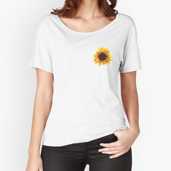 Polygonal Sunflower Relaxed Fit T-Shirt