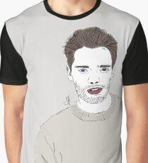 [Art by A.R. Regan] Celebrity: Dominic Sherwood Digital Drawing Graphic T-Shirt