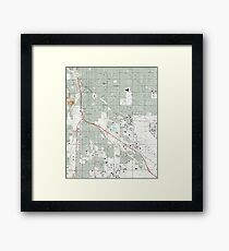 Tucson Arizona Map (1992) Framed Print