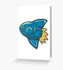 Rocket Science bath bomb Greeting Card
