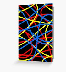 Funky Coloured Cables #2 Greeting Card