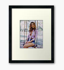 Young Jennifer Aniston  Framed Print