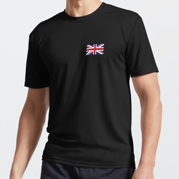 UNION JACK. SMALL, Pure & Simple, Flag of the United Kingdom, Britain, British flag, Blighty. Active T-Shirt