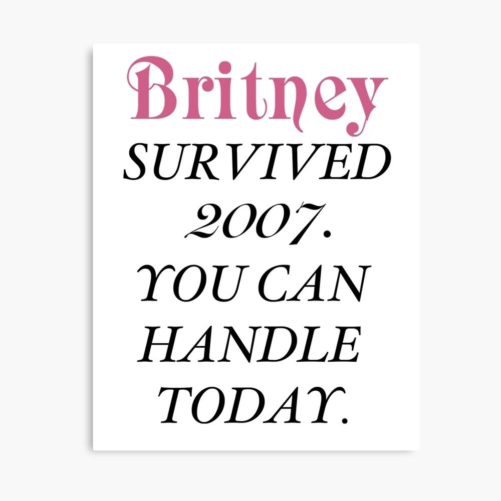 Britney überlebte, Britney. Leinwanddruck