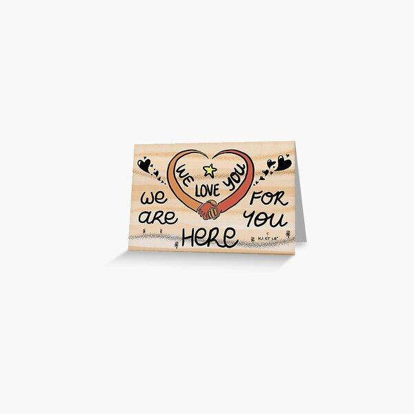 We love you Carte de vœux