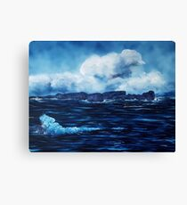 Tory Island, Wild Irish Sea. Landscape Painting Canvas Print