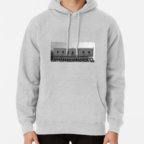 Doge's Palace B&W Pullover Hoodie