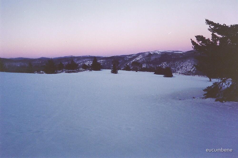 """First Light"" - Dawn at Australia's Highest Township (Cabramurra) by eucumbene"